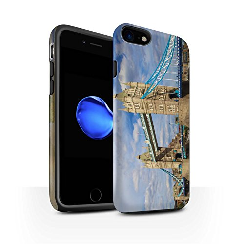 STUFF4 Matte Harten Stoßfest Hülle / Case für Apple iPhone 7 / City of London Muster / Seiten London Kollektion Tower Bridge