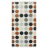 casa pura Design Duschrollo gepunktet | viele Größen | schnelltrocknend | Deckenbefestigung mit Halbkassette (80 x 240 cm)