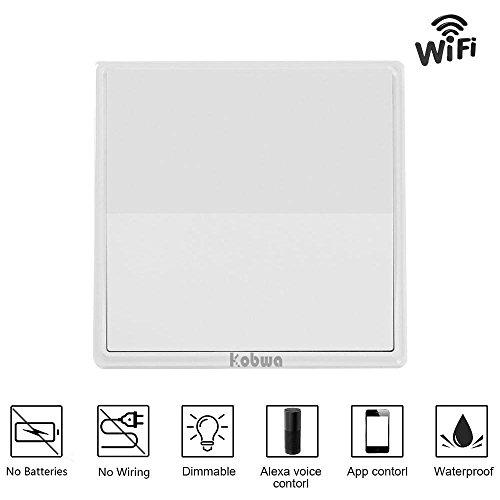 Wifi Lichtschalter Funkschalter Set Lichtschalter Dimmbar mit Alexa Steuerbar Smart Home (Lichtschalter Dimmer Installieren)