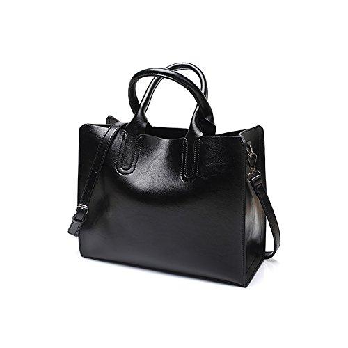 VECHOO Elegant Handtaschen klein Henkeltasche Umhängetasche Damen crossbody Bag mit Schulterriemen (Schwarz)