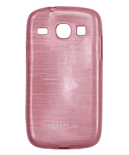 iCandy™ Soft TPU Shiny Back Cover For Samsung Galaxy Core i8260 / i8262 - Pink  available at amazon for Rs.160
