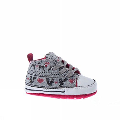 Converse - Converse Chaussures pour Garçon Gris Toile CT first star hi Grey Mel/Blk/Red Winter