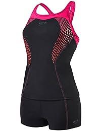 Speedo Damen Fit Tankini Kickback Badeanzug Swimwear
