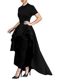Yesmile Vestido de Mujer Falda Blanco Ropa Vestido Elegante de Noche para  Boda Fista Vestido Largo de Manga Corta para Mujer Verano Fiesta… 9b7c3eb3e327