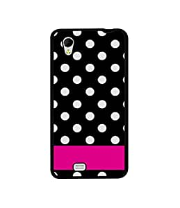 Casotec White Dots Pattern Design Canvas Printed Soft TPU Back Case Cover for Gionee Ctrl V4s