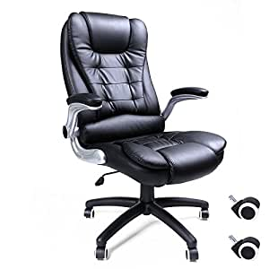 Songmics sedia da ufficio regolabile poltrona girevole for Sedia da ufficio amazon