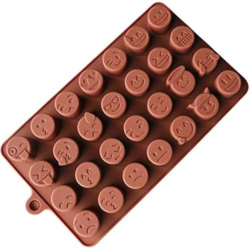 Kuchenform, Chshe, Lustiges Emoji Gesicht Diy Silikon Für Schokoladenkuchen-Zuckersüßigkeits-Seife, Backform, Nahrungsmittelgrad-Silikonmaterial