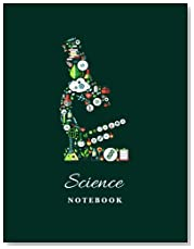 Science Notebook: Blank and Lined pages, (8.5 x 11) inches (Microscope)