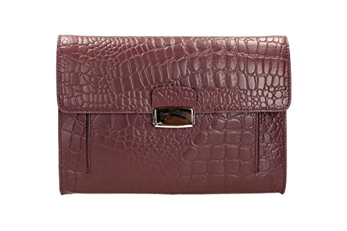 Clarks Truly Clutch 261130240 Damen Clutches 30x22x4 cm (B x H x T) Rot (Burgundy Leather)