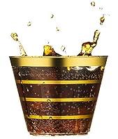 Les gobelets parfaits pour votre occasion spéciale.    Ce lot de 100 gobelets en plastique à rayures or rose est parfait pour vos occasions spéciales : anniversaire, anniversaire, mariage, fête prénatale, brunchs, fête de vacances, fête d'entrepri...