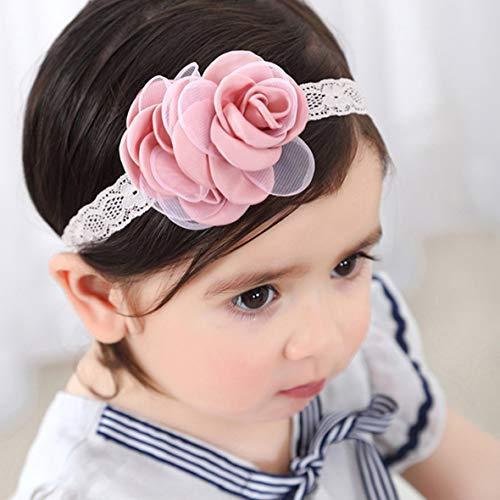 Schöne Rose Blume Spitze Haarband Baby Mädchen Headwear Kopf Wickelt Stirnband Neugeborenen Kleinkinder Haar Styling Zubehör (Kopf Wickelt Für Baby Mädchen)