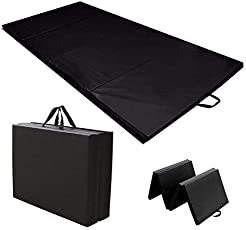 US Fitness Exercise Fitness MAT Men, Women,Exercise MAT,Anti Slip,Extra Thick, Fold-able Yoga Mat for Multi-Purpose use for Home and Travel,12mm, 180X70cm (Color-Black)