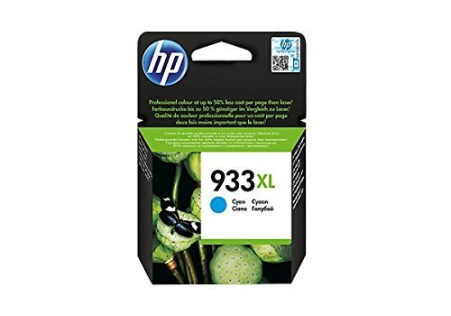 HP 933 XL CN054AE Cartuccia Originale per Stampanti a Getto di Inchiostro, Compatibile con OfficeJet 6100, 7610 e 7612, HP OfficeJet 6600, 6700, 7110 e 7510, Ciano