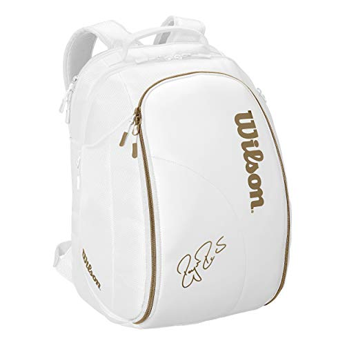 Wilson Federer DNA Tennis Backpack (White/Gold) -