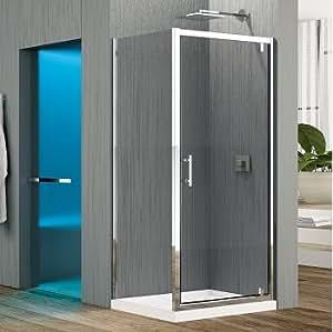 Porte pivotante Zephyros G 100cm verre Transparent, profilés Silver