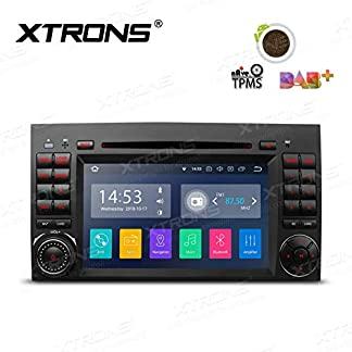 XTRONS-7-Android-Autoradio-mit-Touchscreen-Android-81-Quad-Core-DVD-Player-Car-Auto-Play-Full-RCA-Ausgang-4G-Bluetooth-2GB-RAM-16GB-ROM-DAB-Android-NAVI-OBD2-TPMS-FR-Mercedes-Benz