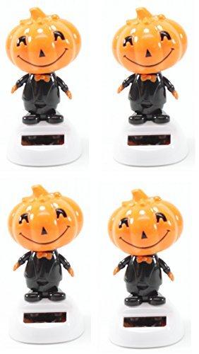Set of 4 Dancing Pumpkin Solar Toys Halloween Nightmare Party Home Decor Gift US Seller