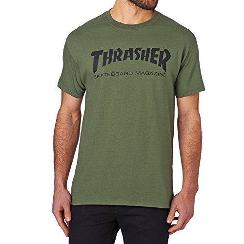 Maglietta thrasher skate mag verde - m, verde