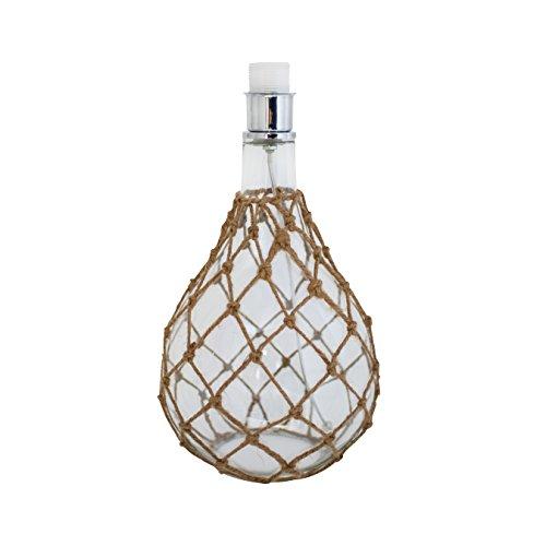 by rydens 40003307002–Lámpara de mesa (cristal/yute transparente