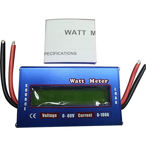 lubishengwuliu analizzatore di Corrente Digitale, Tester di capacità della Batteria, Pannello Solare, misuratore di Tensione, Corrente Digitale, Display LCD