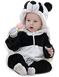 ECYC® bebé ropa dibujos animados animal mono bebé mamelucos manga larga con capucha