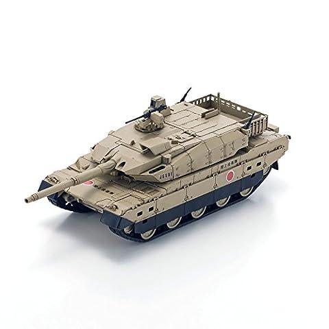 Kyosho 69040D Mitsubishi JGSDF Type 10 Palm-Sized Bluetooth/Smart Phone-Operated Tank, Desert Brown