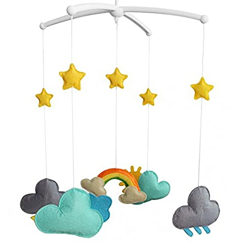 Handmade Baby Bedding Musical Mobile Infant Hanging Musical Mobile