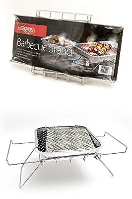 Bar-Be-Quick Instant-Grill stehen. Faltbare Sofortgrillstand. Passend sowohl Größe von Einweg-Grill. Keine Montage. Light & tragbar.