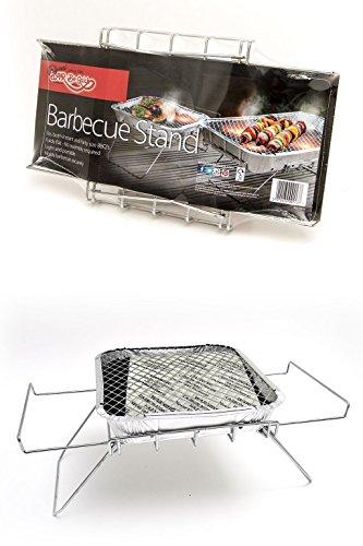 41UIWzYKybL - Bar-Be-Quick Instant-Grill stehen. Faltbare Sofortgrillstand. Passend sowohl Größe von Einweg-Grill. Keine Montage. Light & tragbar.
