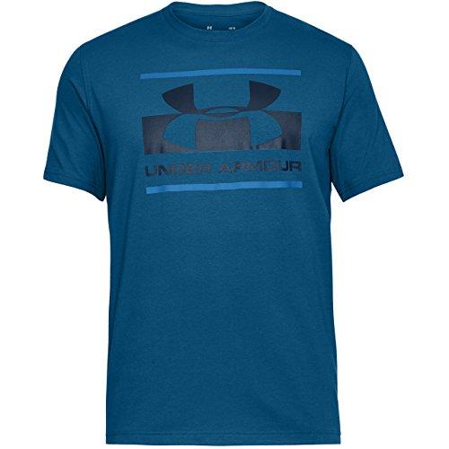 Under Armour Herren Blocked Sportstyle Logo T-Shirt,Blau (Moroccan Blue), XL (Blaue Logo-shirt)