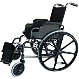 Silla de ruedas plegable y autopropulsable | Modelo Giralda | Asientos y respaldos ergonómicos | Ancho de 43 cm | Acero | Altura 91 cm | Peso Máximo soportado 100 kg ancho de asiento 46 cm