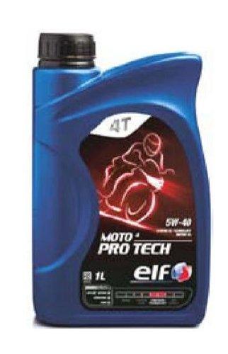 1 litro OLIO ELF MOTO 4 PRO TECH 5W-40 100% SINTETICO per MOTO 4 TEMPI protezione motore grazie alle sue proprietà anti-usu