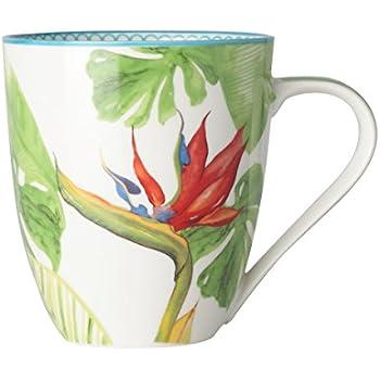 En Tropical Coffret Mug Décor 50cl 4 Porcelaine Paradiso De TiOkZPXu