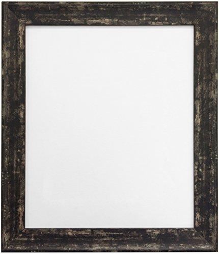 Frames by Post A2Industrieller Bilderrahmen mit Kunststoff-Glas, Used-Schwarz (A2 Glas)