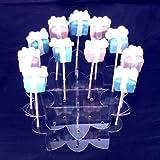 Super Cool Creations 21cm Durchmesser 6,5cm hoch Acryl Flower Cake Pop-Ständer mit 16Löcher 5cm auseinander, transparent