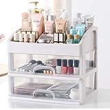 Boîte de rangement pour maquillage Wuyue Hua - Organiseur de maquillage multicouche de petite taille - Tiroirs transparents -