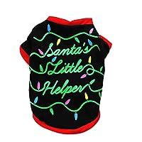 Doggie Style Store Christmas Xmas T-Shirt Santas Little Helper Dog Puppy Pet Cat Kitten Vest Top Shirt