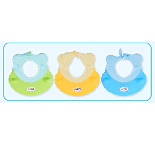 Enfants Shampoo Cap Baby Shower Cap Enfants Cap Waterproof Oreille bébé Shampoo Cap bonnet de bain peut être ajusté à Widen ( couleur : Le jaune )
