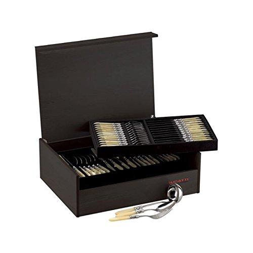Casa Bugatti Kiste aus Wenge Holz für 74/75-stk-Set Farben