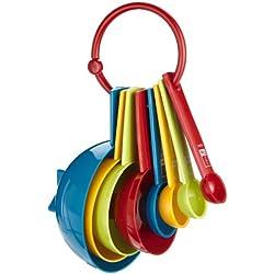 Miniamo Brights - Juego cucharas y tazas medidoras (8 piezas)