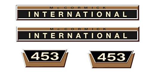 MC Cormick/IHC Aufkleber Motorhaube 453 Gold kurz