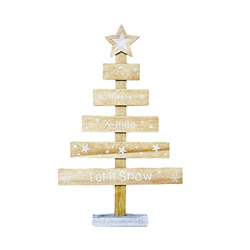 eihnachten Party Decor Holz Mini Weihnachtsbaum Desktop Ornamente Frohe Weihnachten Party Decor ()