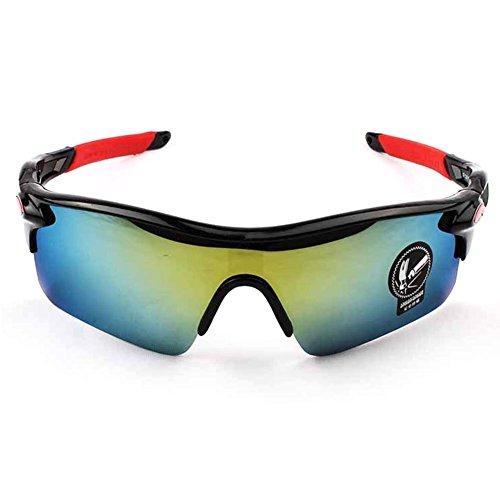 Toruiwa Sportbrille Sonnenbrille Damen Herren Fahrradbrille Outdoor Brille für Autofahren Laufen Radfahren Angeln Golf 14.7 * 4.4cm (B)