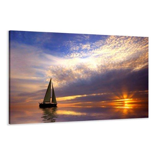 Quadro su tela sail 120 x 80 cm modello nr xxl 5097. i quadri sono montati su telai di vero legno. stampa artistica intelaiata e pronta da appendere