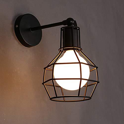 CCSUN Retro Im käfig Wandleuchten, Einfache Led spiegelleuchte badlampe Eisen Beleuchtungseinheit Adjustjust Eitelkeit lichter für spiegel-schwarz