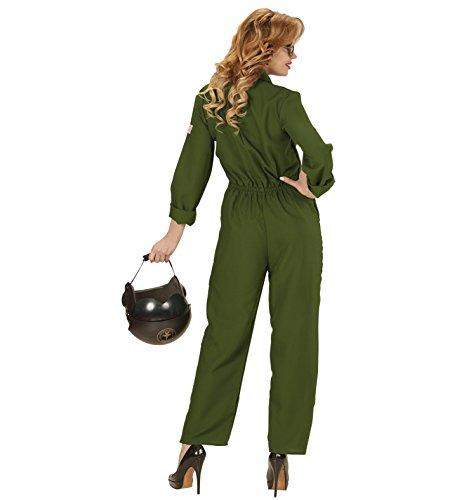 JET PILOTIN PILOT Kampfjet Top Gun Partner Kostüm deluxe für Damen und Herren, Pilot/Pilotin:Damen Anzug M - 38/40 (Top Gun Overall Halloween Kostüm)