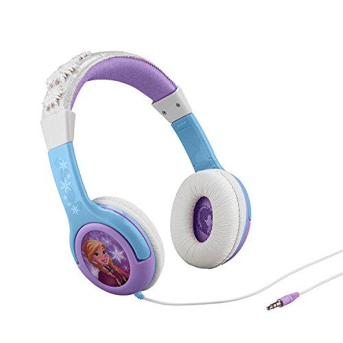 ekids FR-140 Disney Frozen Kopfhörer mit Lautstärkebegrenzung größenverstellbar Eiskönigin Anna und Elsa blau