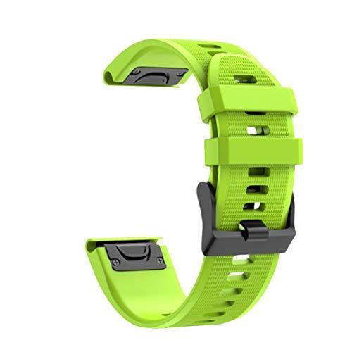Nike Plus Watch (happy event Schnellwechsel Ersatz Silikonarmband für den Garmin Fenix 5X Plus (Grün))