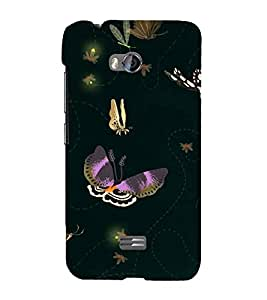 Butterflies Wallpaper 3D Hard Polycarbonate Designer Back Case Cover for Micromax Bolt Q336