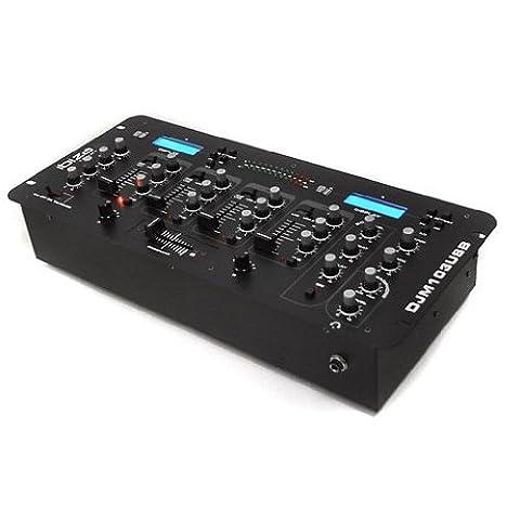 Ibiza 4-Kanal Mischpult DJ Mixer 2x USB Echo-Effekt